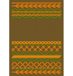 ethnic embroider vector image
