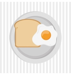 Breakfast graphic design vector