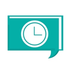 Conversation bubble with clock vector