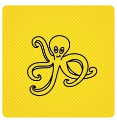 Octopus icon ocean devilfish sign vector