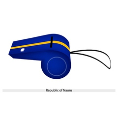 A Whistle of The Republic of Nauru vector image vector image