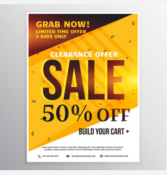 Bright colors sale banner poster design template vector