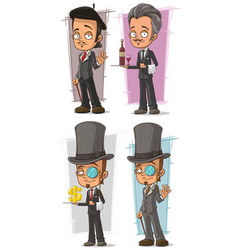 cartoon intelligent in suit character set vector image vector image