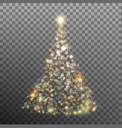 christmas golden glitter bokeh lights eps 10 vector image