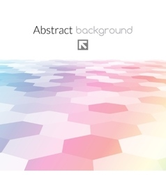 Colorful hex grid background texture vector