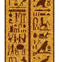Egyptian seamless hieroglyphs vector image