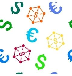 Financial network seamless flat pattern vector