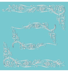 Frame floral decorative pattern vector