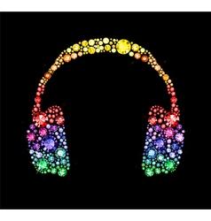 Gem Headphones vector image