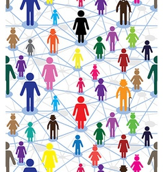 generation diagram people vector image vector image