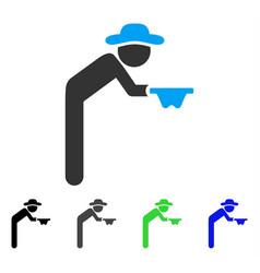 Gentleman beggar flat icon vector