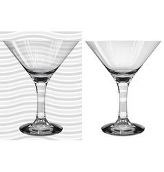 Glasses3 3 2 martini vector image vector image