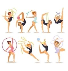 Gymnast girl vector