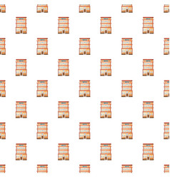 Hotel building pattern vector