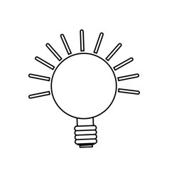 isolated lighting bulb vector image