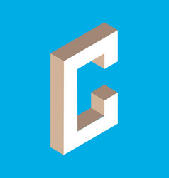isometric letter c vector image