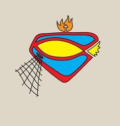 Jesus is hero logo vector