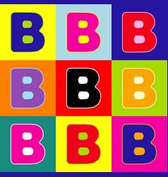 Letter b sign design template element pop vector