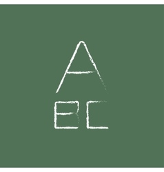 Letters icon drawn in chalk vector image vector image