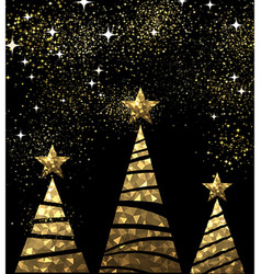 New year background with christmas trees vector
