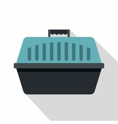 Pet carry case icon flat style vector