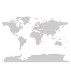 political map of world with capital cities vector image vector image