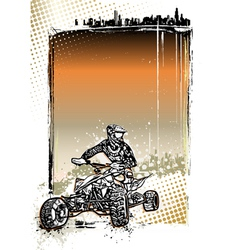 Quad bike poster vector
