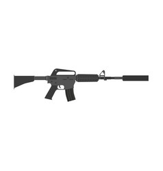 rifle gun assault weapon military war silencer vector image vector image