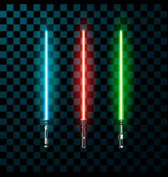 Set of realistic light swords vector