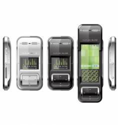 Slide phone high tech vector