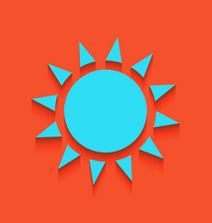 Sun sign whitish icon on vector