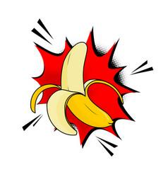 the banana pop art style banana vector image vector image
