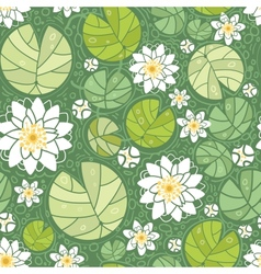 Water lillies seamless pattern background vector image vector image