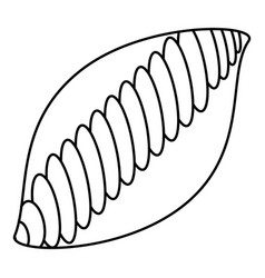 white bread icon outline style vector image