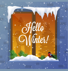 winter and snow vector image vector image