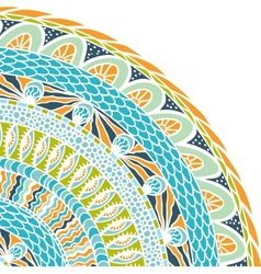 Colorful ethnicity round ornament mosaic vector
