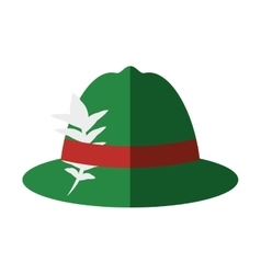Irish hat isolated icon vector image