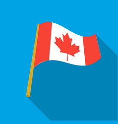 canadian flag icon in flate style isolated on vector image