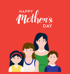 Happy mothers day family love vector