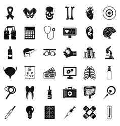 Good diagnostic icons set simple style vector