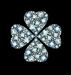 Diamond clover vector