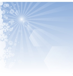 Winter background with rays vector