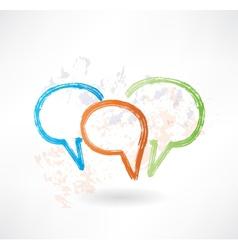 Three coloured speech bubbles Brush icon vector image