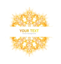 Abstraction orange background vector image