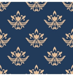Blue and beige seamless pattern vector