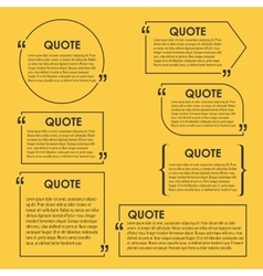 Quote blank template quote bubble vector