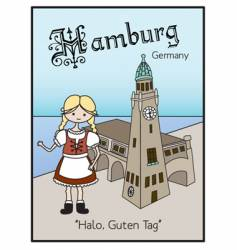 Hamburg germany vector