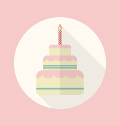 Wedding cake flat icon vector