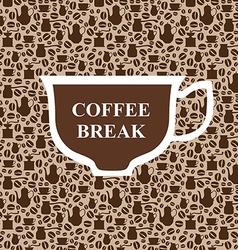 coffee breack beige vector image