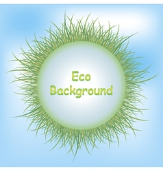 Eco background grass vector